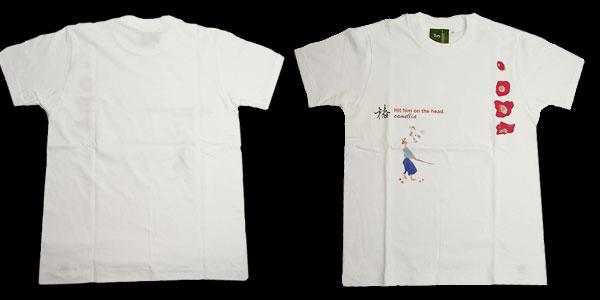 和柄Tシャツ【椿】