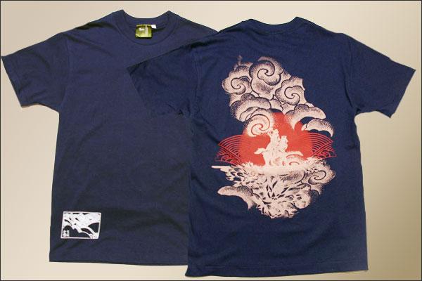 戦国Tシャツ【越後の龍・上杉謙信・第4弾】紺平置き