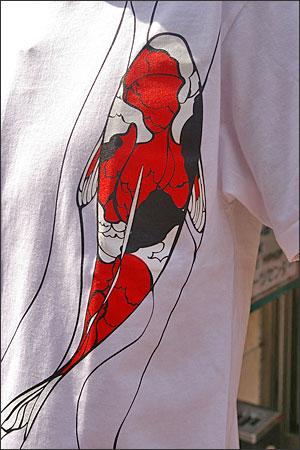 オリジナルデザイン和柄Tシャツ【鯉】